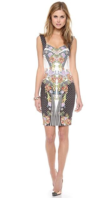 Just Cavalli Romantic Nature Print Dress