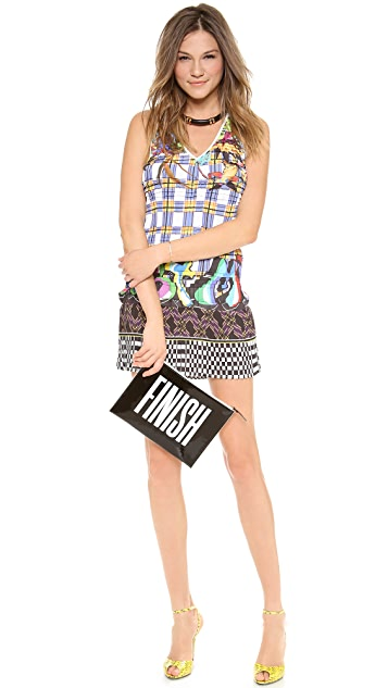 Just Cavalli V Neck Dress