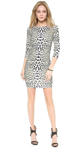 Just Cavalli Leopard Punk Print Dress