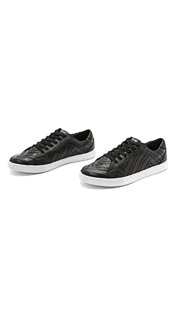 Just Cavalli Strawed Leather Sneakers