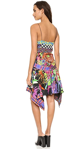 Just Cavalli Patch Printed Slit Dress