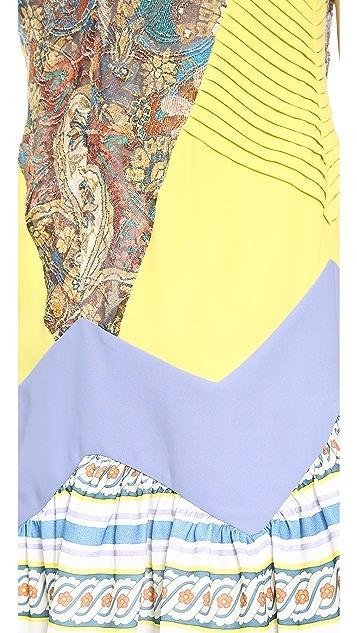 Just Cavalli Print V Neck Dress