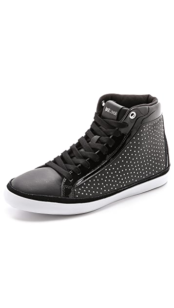 Just Cavalli Studded High Tops Sneakers