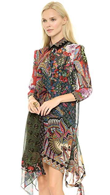 Just Cavalli Gypsy Fever Print Dress