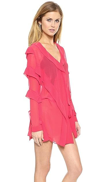 Just Cavalli Coral Ruffle Dress