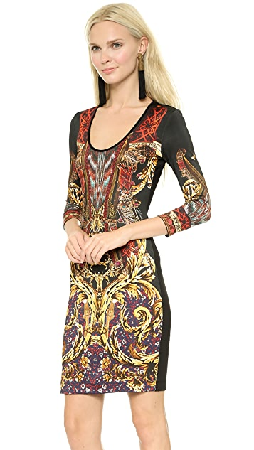 Just Cavalli Gypsy Knife Print Dress