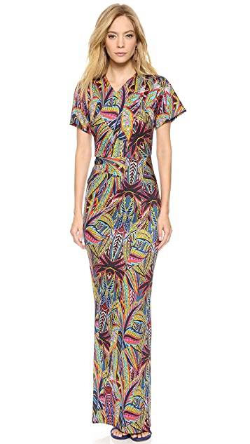 Just Cavalli Vintage Jungle Print Maxi Dress