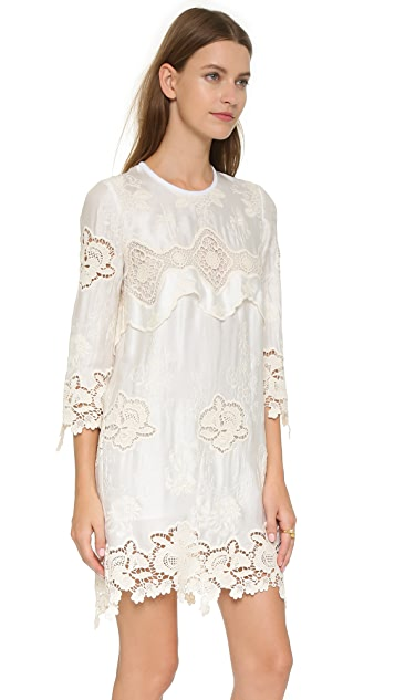 Just Cavalli Lace Shift Dress