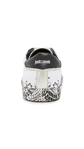Just Cavalli Faded Snake Print Sneakers