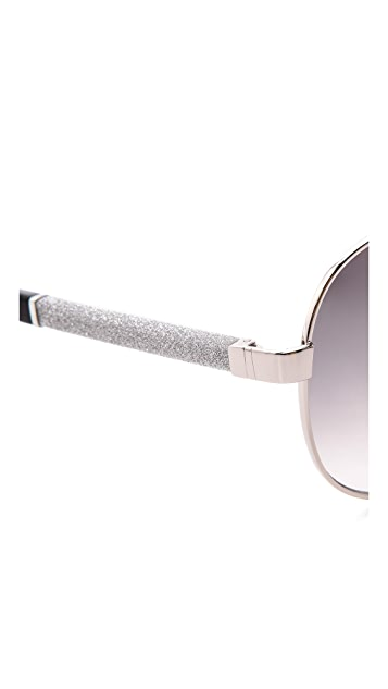 Jimmy Choo Lexie Aviator Sunglasses