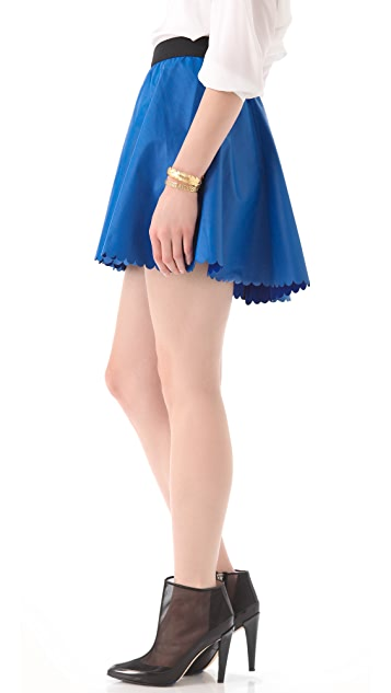 Joy Cioci Lili Leather Skirt