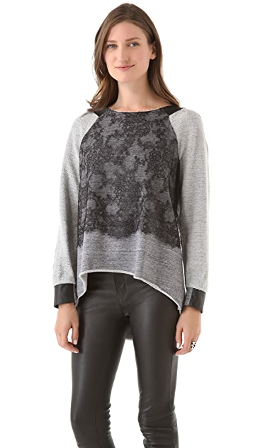 Joy Cioci Jeanne Top with Lace Panel