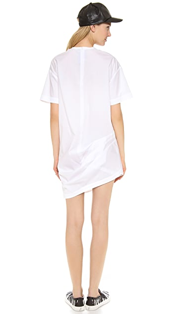 Jacquemus Gathered Asymmetrical Shirt Dress