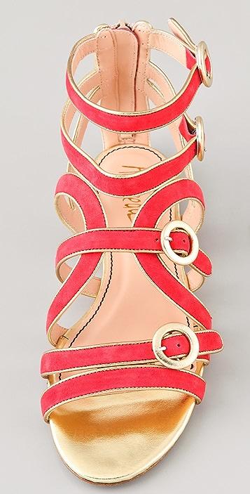 Jerome C. Rousseau Muscat Flat Suede Sandals
