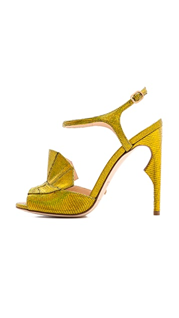 Jerome C. Rousseau Lio Metallic Heeled Sandals