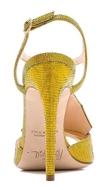Jerome C. Rousseau Lio Metallic Heeled Sandals