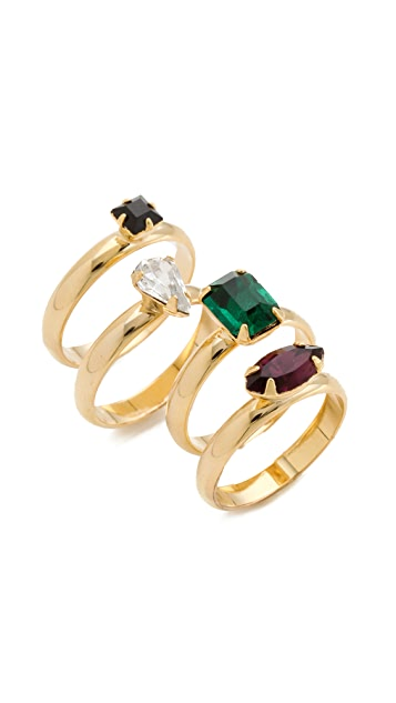 Jene DeSpain Sparks Stacking Ring Set