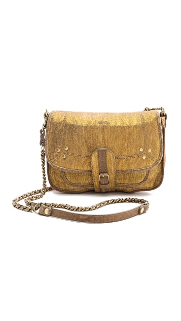 Jerome Dreyfuss Jojo Metallic Suede Bag