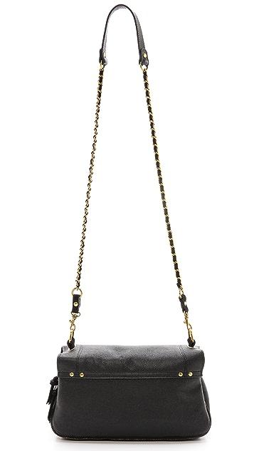Jerome Dreyfuss Bobi Caviar Noir and Noir Velvet Cross Body Bag
