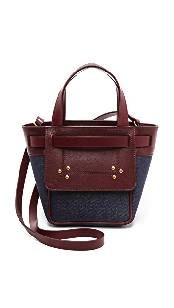 Jerome Dreyfuss Vladimir Small Denim and Leather Bag