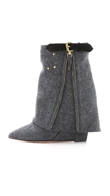 Jerome Dreyfuss Biboots Flannel Wedge Boots