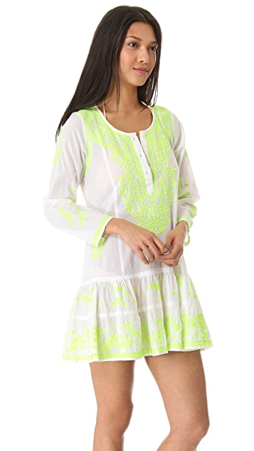 Juliet Dunn Long Sleeve Cover Up Dress