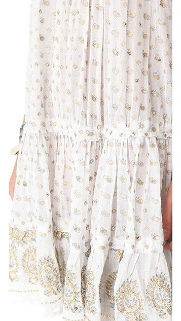 Juliet Dunn Sleeveless Paisley Cover Up Dress