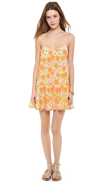 Juliet Dunn Floral Strappy Cover Up Dress