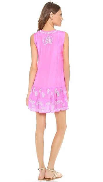 Juliet Dunn Silk Sleeveless Cover Up Dress