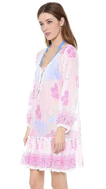 Juliet Dunn Gypsy Frill Cover Up Dress