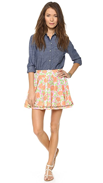 Juliet Dunn Floral Bubble Skirt