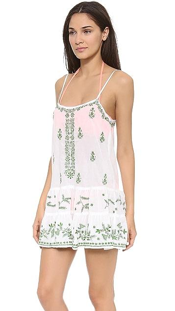 Juliet Dunn Camisole Pintuck Dress