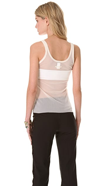 Jean Paul Gaultier White Tank Top