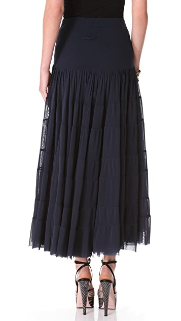 Jean Paul Gaultier Long Navy Skirt