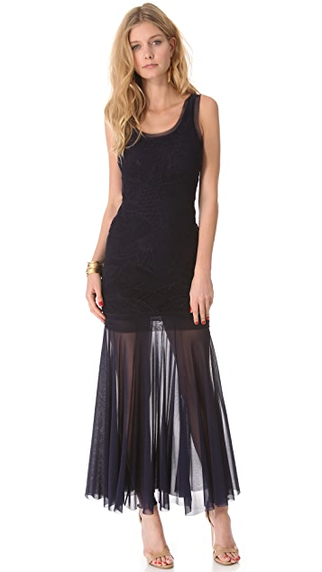 Jean Paul Gaultier Mesh Lace Maxi Dress