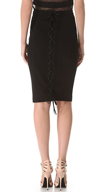 Jean Paul Gaultier Lace Up Skirt