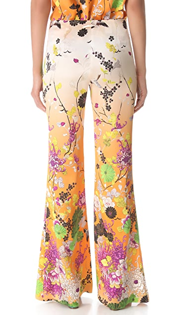 Jean Paul Gaultier Printed Satin Pants