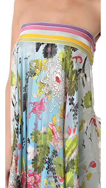 Jean Paul Gaultier Printed Satin Dress