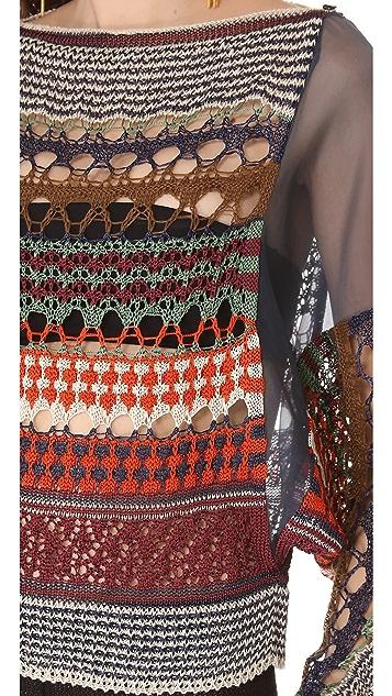 Jean Paul Gaultier Crochet Pullover