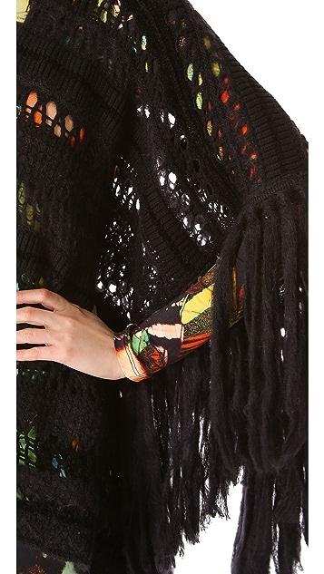 Jean Paul Gaultier Knit Fringe Poncho