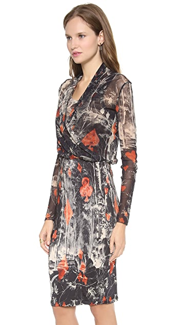 Jean Paul Gaultier Long Sleeve Printed Dress