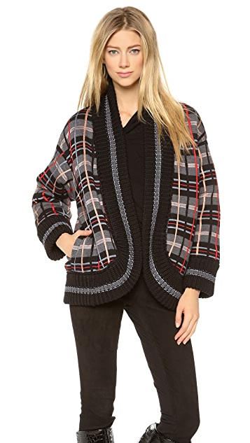 Jean Paul Gaultier Plaid Open Jacket