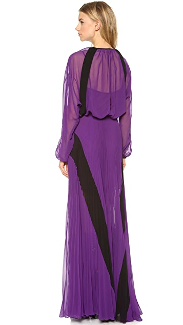 Jean Paul Gaultier Long Sleeve Maxi Dress