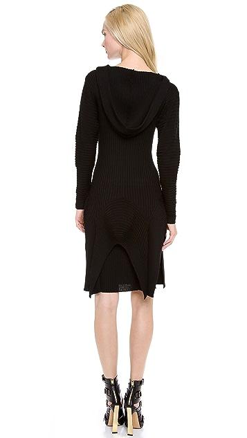 Jean Paul Gaultier Long Sleeve Hooded Dress