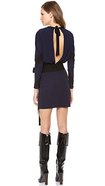Jean Paul Gaultier Long Sleeve Keyhole Dress