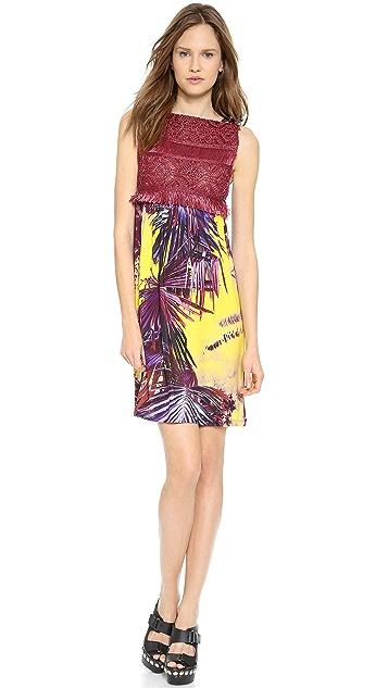 Jean Paul Gaultier Printed Raffia Dress