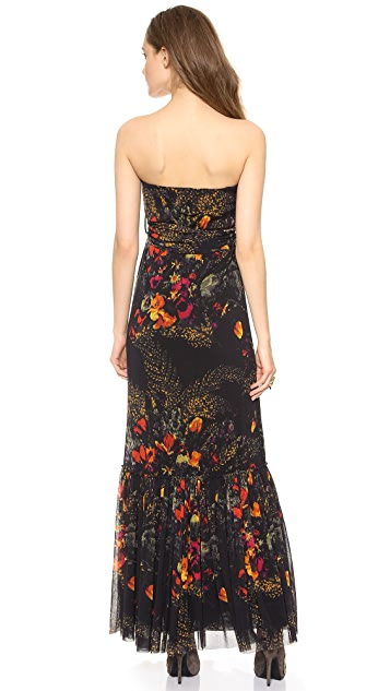 Jean Paul Gaultier Sleeveless Printed Maxi Dress