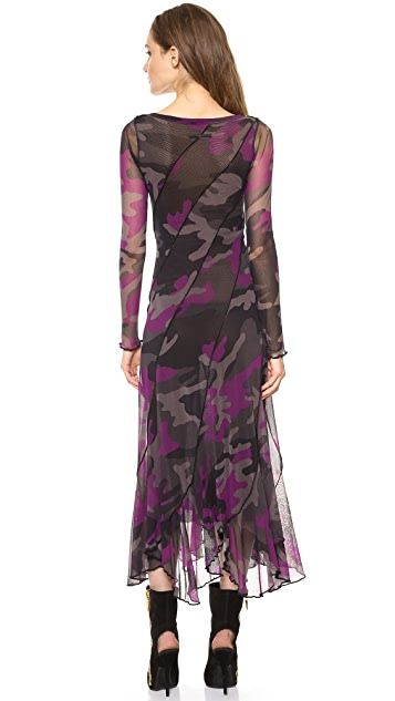 Jean Paul Gaultier Long Sleeve Camouflage Dress