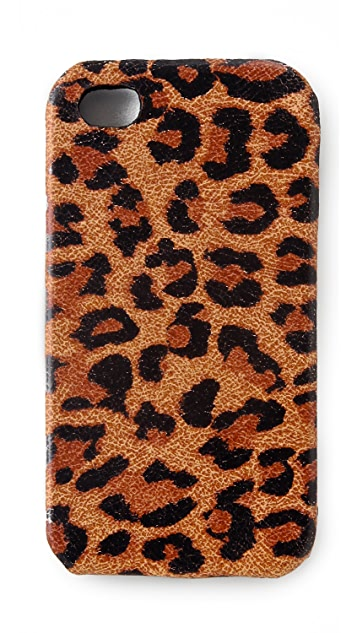 Jagger Edge Leopard Leather iPhone Cover