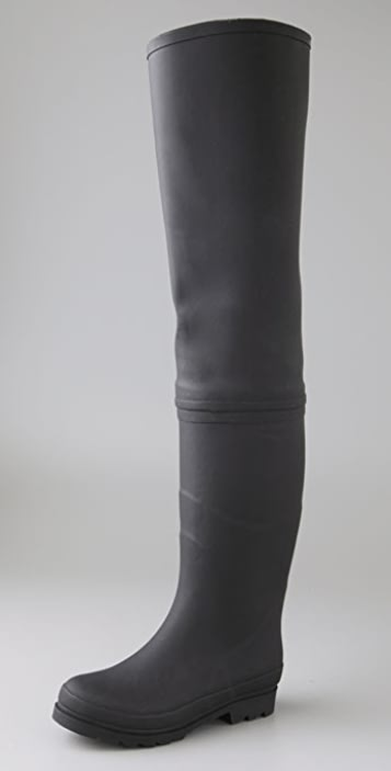 a0c48662b31 Jeffrey Campbell Wader Over the Knee Rubber Boots